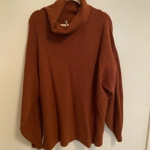 Free People XL cowl neck sweater